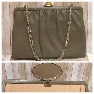 Mardane USA Leather Convertible Clutch w/Mirror